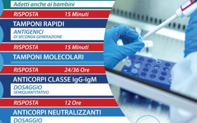 Tutti i Test Anti-Covid del Poliambulatorio